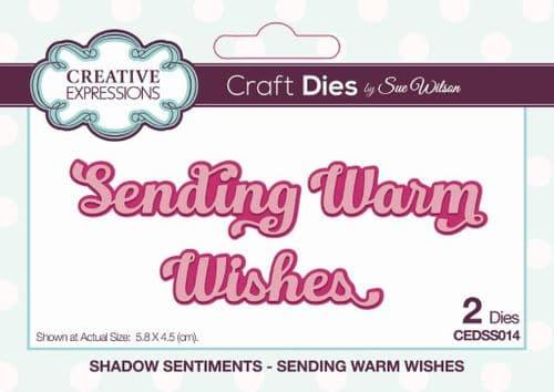 Sending Warm Wishes Creative Expressions Die (CEDSS014)