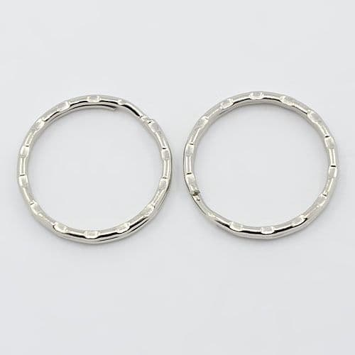 Silver Split Ring wavy 25mm (4)