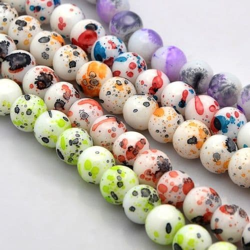 Speckled 12mm Glass Beads (17)