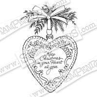 Stampendous Stamp Christmas Heart (CRR271)