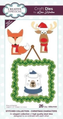Stitched Collection Christmas Characters Die (CEDLH1042)