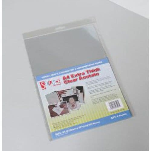 Stix2 Extra Thick A4 Clear Acetate (4 Sheets)