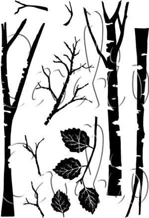 Tall Trees Cardio Clear Stamps