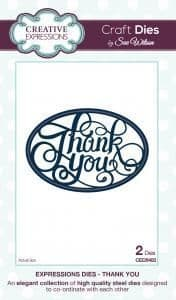 Thank You Creative Expressions Die (CED5403)