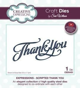 Thank You Creative Expressions Die (CED5425)