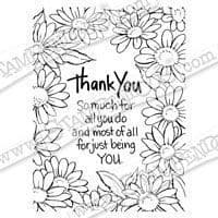 Thank You Daisies Stampendous Cling Stamp