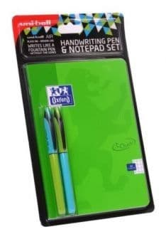 Uni Air Handwriting Pen & Notepad Set A5 Green