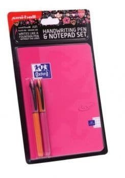Uni Air Handwriting Pen & Notepad Set A5 Pink