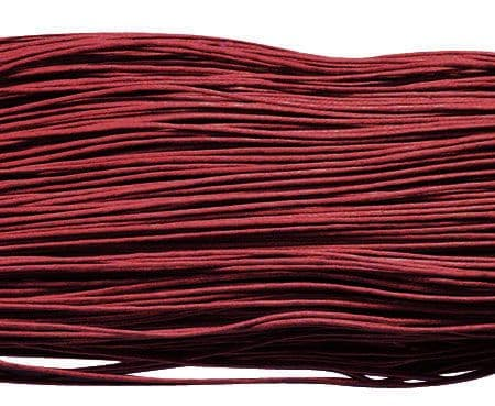 Wax Cotton 0.7mm - Dark Red (one metre)