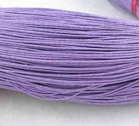 Wax Cotton 0.7mm - Purple (one metre)