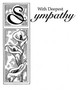 With Sympathy Creative Expressions Stamp