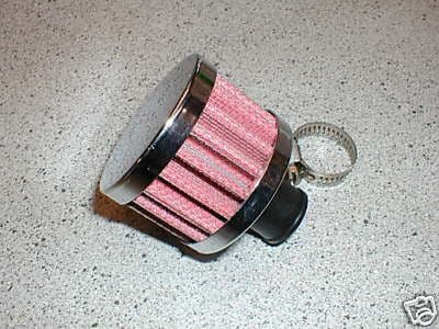CHROME BREATHER / EMMISSION VALVE FILTER - UNIVERSAL