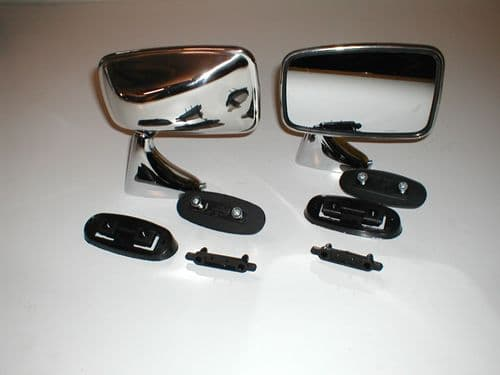 CHROME TEX DOOR MIRROR - PAIR .TRIUMPH & MG GAM258