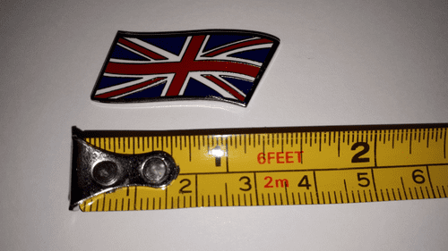 ENAMEL UNION JACK FLYING BADGE METAL SELF ADHESIVE 35MM