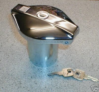 FLIP TOP CHROME LOCKING PETROL CAP SPITFIRE &KIT CARS GAC6001X
