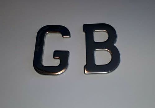GB LETTER SET STAINLESS STEEL SELF ADHESIVE