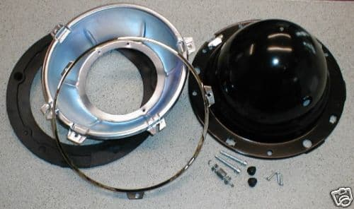 HEADLAMP SHELL BACKBOWL / RIM / SEAL / KIT 7 INCH