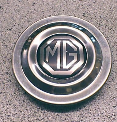MG MIDGET ROSTYLE WHEEL CENTRE CAP & BADGE AHA8950