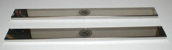 STAINLESS STEEL DOOR TREADPLATES  MG MGB ROADSTER & GT