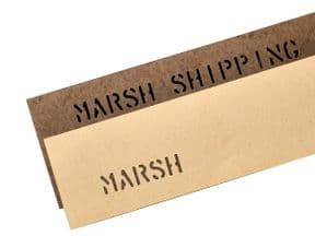 Marsh Oilboard, Natural, 15pt - 7 x 24 inch, Pack of 50 sheets