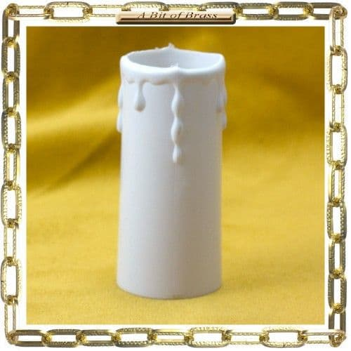 34 x 80mm WhiteThermoplastic Candle Cover