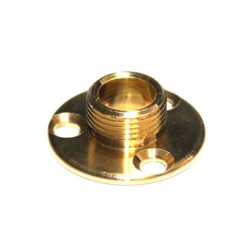 "½"" x 26tpi Solid Brass Lamp Holder Fixing Plate"