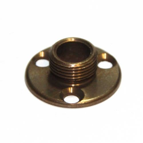 "½"" x 26tpi Solid Brass Lamp Holder Fixing Plate Antique Finish"