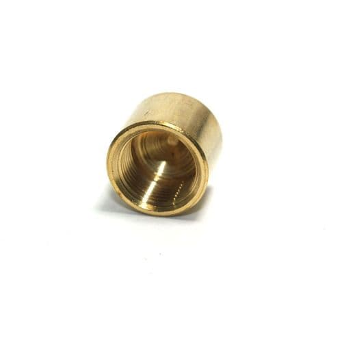 """1/2"""" x 26tpi Solid Brass End Cap Finial Nut"""