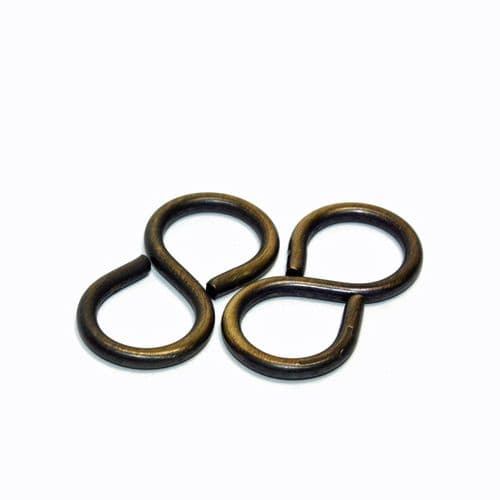 "1½""  Solid Brass S or Ess Hook 5kg MRL Pack of 2"