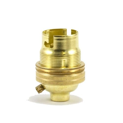 10mm Entry Solid Brass Finish BC Lampholder