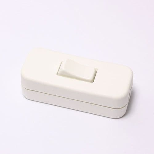 2 Amp In Line Switch For 2 or 3 Core Cable White