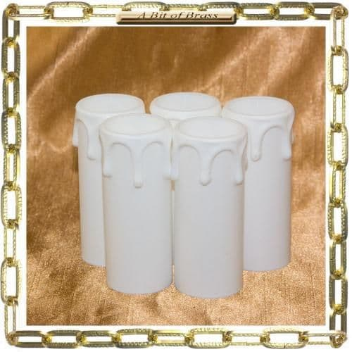23 x 65mm WhiteThermoplastic Small Candle Cover