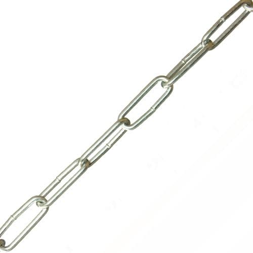 24 x 5 x 2.5mm Steel Zinc Plated Finish Chain