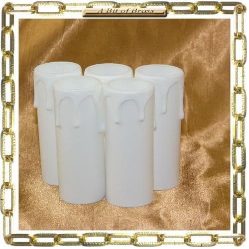 27 x 70mm White Thermoplastic Candle Cover