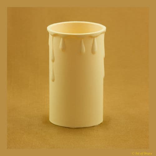 36 x 70mm Cream Coloured Thermoplastic Candle Cover Pack of 5