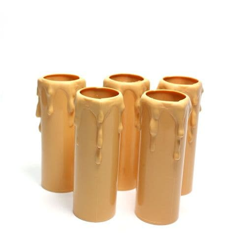 71mm x 23.75mm x 21mm Thermoplastic Candle Cover Pack of 5