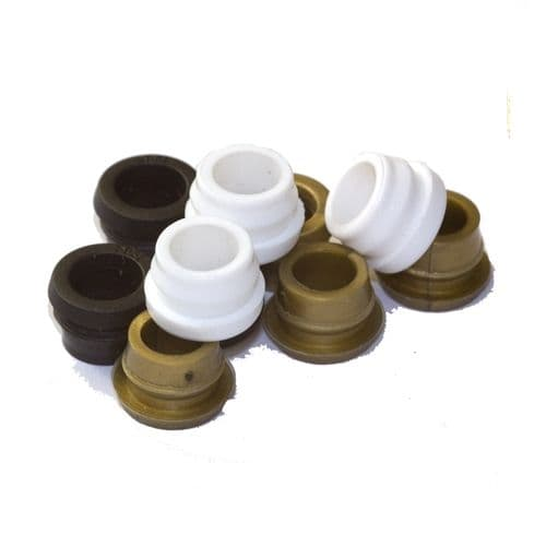 8.50mm Waist Coloured Nylon Cable Grommets for Lamp Base Cable Entry PKT 10