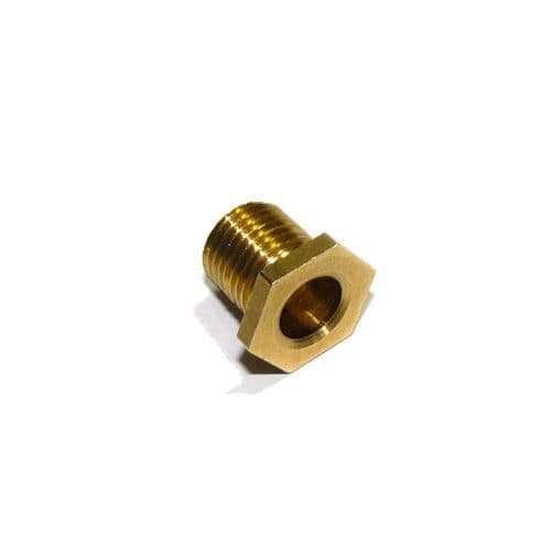 9mm Length M10 x 1mm Pitch Solid Brass Pottery Nipple Pack of 3