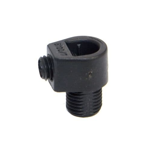 M10 x 1mm Pitch Black Nylon Male Pillar Cable Gland Pack 3