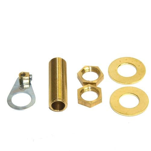 M10 x 1mm Pitch Solid Brass Lighting / Lampholder Accessory Pack Various Lengths