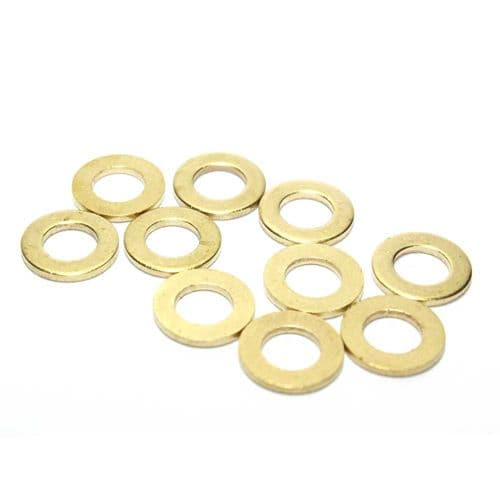M5 Solid Brass Form A Washers Various Pack Size