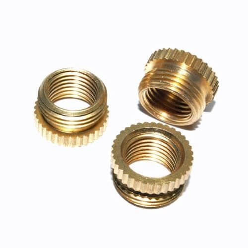 "Pack of 3 Solid Brass 1/2"" x 26tpi to M10 x 1mm  Pitch Adaptor"
