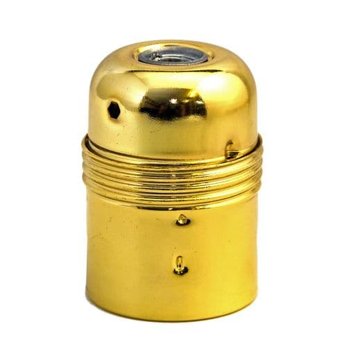 Plain Skirt Brass Finish ES (E27) Lampholder 10mm