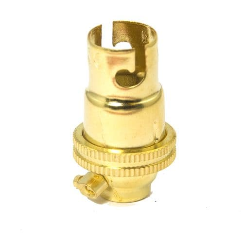 Quality Solid Brass SBC (B15) Candle Lamp Bulb Lampholder Plain Skirt 10mm Entry