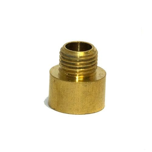 "Solid Brass 1/2"" x 26tpi Female to M10 x 1mm Male Coupler Adaptor For Lighting"