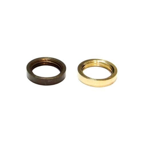 Solid Brass 1/2'' x 26tpi Ring Nuts Pack of 10