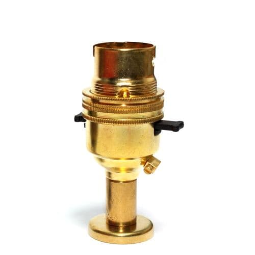 Solid Brass 10mm Switched Lampholder c/w Pedestal