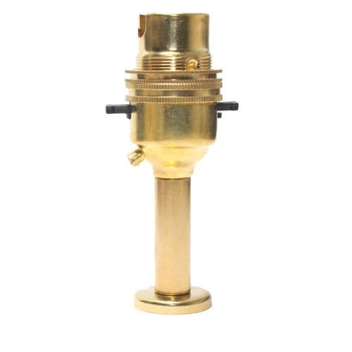 Solid Brass 10mm Switched Lampholder c/w Pedestal Polished Finish
