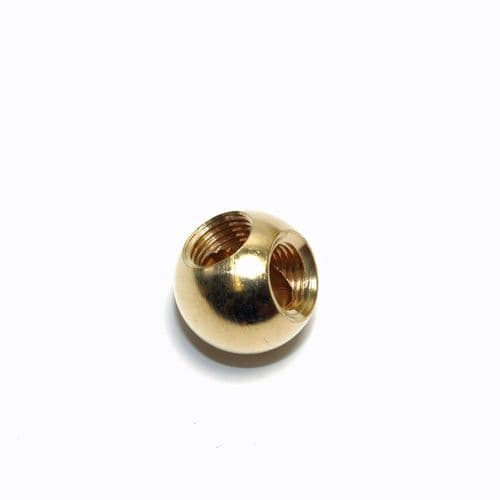 Solid Brass 19.75mm Ball Finial 90 Degree Angled  M10 x 1mmThreads