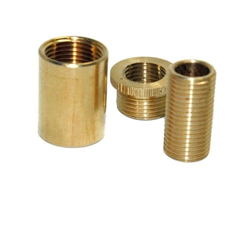 "Solid Brass Adaptor Kit ½"" x 26tpi to M10"